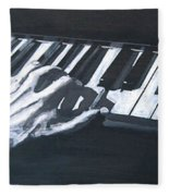Piano Hands Plus Metronome Fleece Blanket