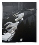 Piano Hands Fleece Blanket
