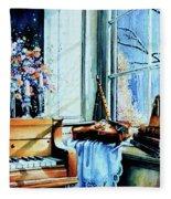 Piano In The Sun Fleece Blanket