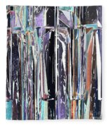 Piano Keys Abstract Fleece Blanket
