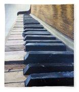 Piano Perspective Fleece Blanket