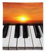 Piano Sunset Fleece Blanket