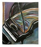 Piano With High Heel Fleece Blanket