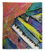 Piano With Yellow Fleece Blanket