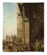 Piazza Di San Marco And The Colonnade Of The Procuratie Nuove Fleece Blanket