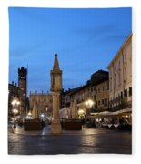 Piazza Erbe Verona Fleece Blanket
