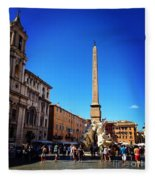 Piazza Navona 2 Fleece Blanket