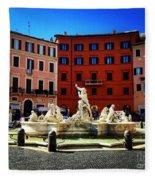 Piazza Navona 4 Fleece Blanket