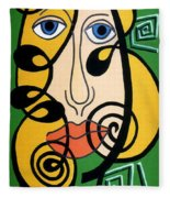 Picasso Influence Fleece Blanket