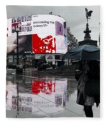 Piccadilly In The Rain Fleece Blanket