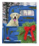 Pick-en Up The Christmas Tree Fleece Blanket