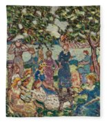 Picnic By The Inlet Fleece Blanket