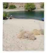 Picnic On Lake Mohave Fleece Blanket