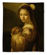 Picture Of A Young Girl Fleece Blanket
