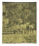 Picture Of Amish Boy In Book Fleece Blanket