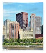 Picture Perfect Pittsburgh Panoramic Fleece Blanket