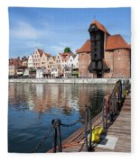 Picturesque City Of Gdansk In Poland Fleece Blanket