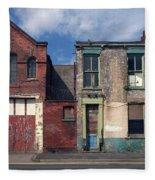 Picturesque Derelict Houses In Hull England Fleece Blanket