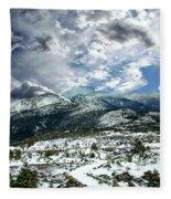 Picturesque Mountain Landscape Fleece Blanket