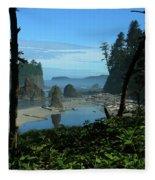 Picturesque Ruby Beach View Fleece Blanket