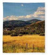Picturesque View Of Steamboat Springs Colorado Fleece Blanket