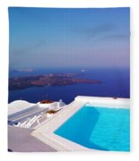 Piece Of Mediterranean Paradise Fleece Blanket