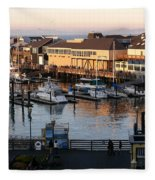 Pier 39 In The Sunshine Fleece Blanket