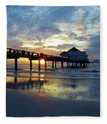 Pier 60 Sunset Fleece Blanket