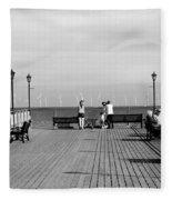 Pier End View At Skegness Fleece Blanket