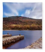 Pier On The Upper Lake In Glendalough - Wicklow, Ireland Fleece Blanket