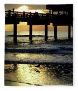 Pier Reflections Fleece Blanket