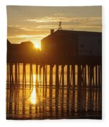 Pier Sunrise Fleece Blanket