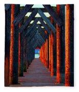 Pier Symmetry   Fleece Blanket