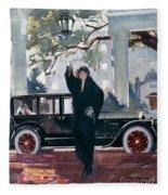 Pierce-arrow Ad, 1925 Fleece Blanket