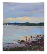 Piermont Shore Ny Fleece Blanket