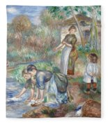 Pierre-auguste Renoir - Washerwomen 1888 Fleece Blanket