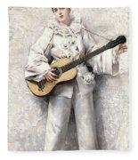 Pierrot Fleece Blanket