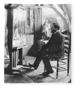 Piet Mondrian (1872-1944) Fleece Blanket
