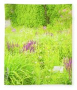 Piet Oudolf Garden At Tbg Fleece Blanket