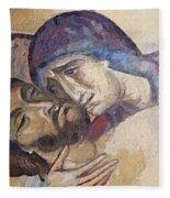 Pieta-mural Detail Fleece Blanket
