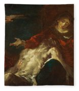 Pieta With Mary Magdalene Fleece Blanket