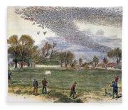 Pigeon Hunting, C1875 Fleece Blanket