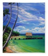 Pigeon Point   Tobago Fleece Blanket