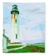 Pigeon Point Lighthouse Fleece Blanket