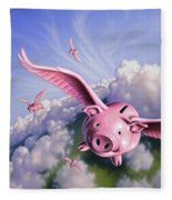 Pigs Away Fleece Blanket