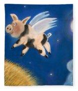 Pigs Might Fly Fleece Blanket