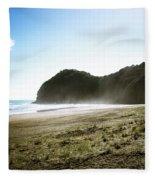 Piha, New Zealand Fleece Blanket