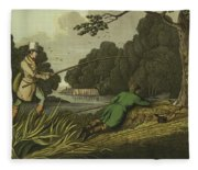 Pike Fishing Fleece Blanket