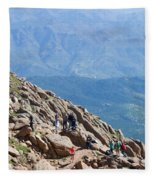 Pikes Peak Marathon And Ascent Fleece Blanket