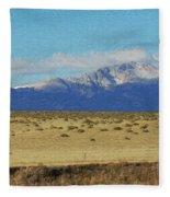 Pikes Peak Painterly Fleece Blanket